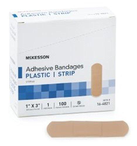 Bandage Adherent Strip 1X3 Lf 100Ea/Bx by Medi-pak Performance -