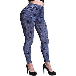 Ninimour Pantalones elásticos Leggings elastic Jeans para Mujer