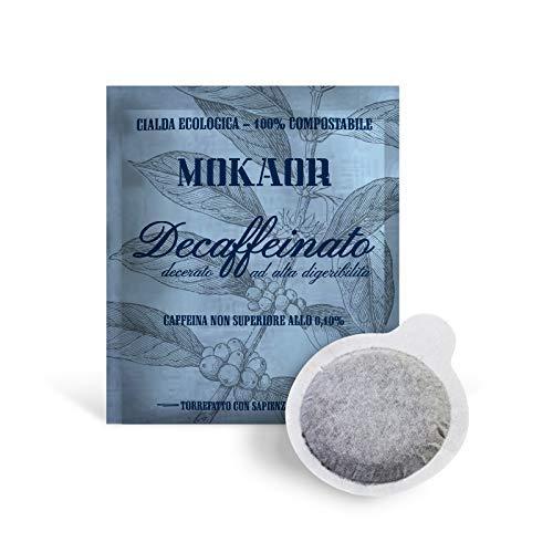 Mokaor - Confezione 50 Cialde Decaffeinato Decerato Alta Digeribilità - Relax Caffè Dek