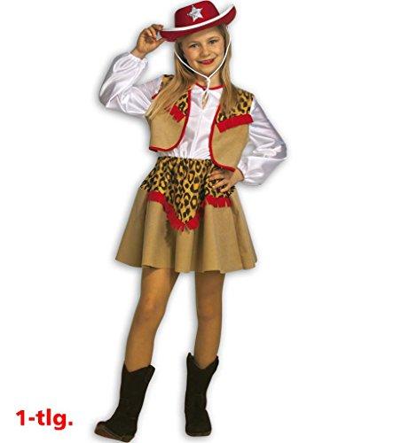 Kinderkostüm Cowgirl Kate, Cowboy-Mädchen, Cowgirl-Kleid Cowgirl-Kostüm (152)