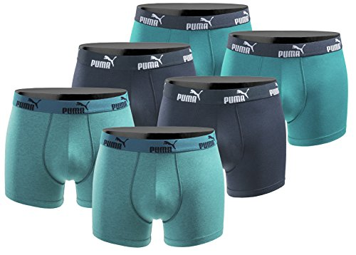 PUMA 6er Pack Boxershort Größe L Herren Basic Black Limited Edition Ocean Power