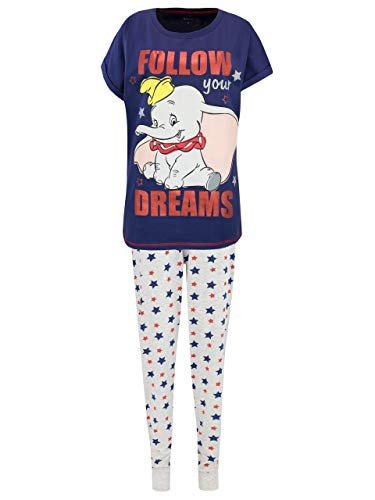 Disney Damen Dumbo Schlafanzuge Blau Size Large -