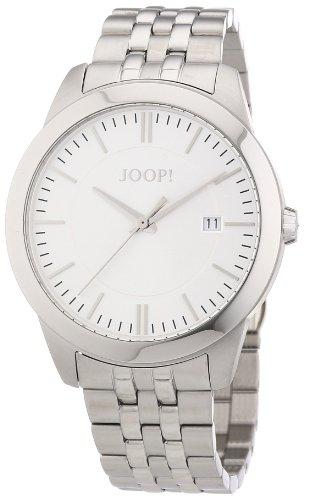 Joop JP101061F07 - Reloj analógico de cuarzo para hombre con correa de acero inoxidable, color plateado