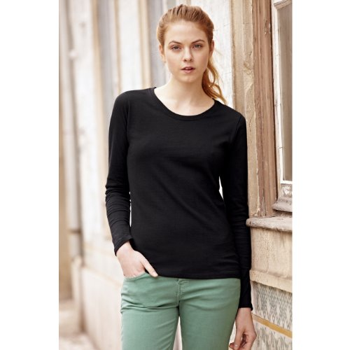 Fruit of the Loom - T-shirt -  Femme Noir - Noir