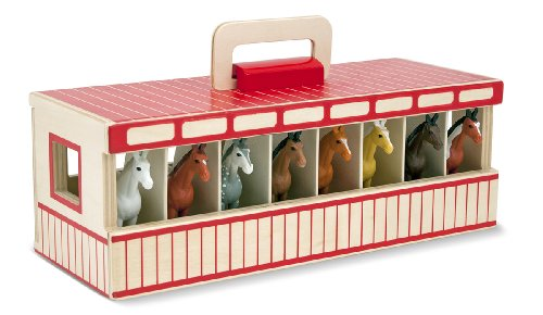 melissa-doug-take-along-show-horse-stable-play-set-with-wooden-stable-box-and-8-toy-horses