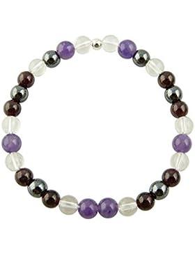 Sunsara Traumsteinshop Edelstein Sternzeichen Armband - Skorpion - mit 925er Silber Perle, Heilsteinarmband, Stretcharmband...