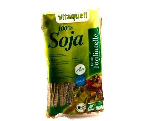 Vitaquell Organic Soy Spaghetti, 200 g Low Carb Protein Athlete Noodles Atleta Carb Protein Athlete I ad alto contenuto proteico + senza glutine