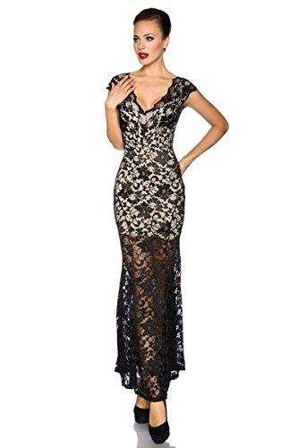 Robe de soirée sexy ballkleid robe de soirée en dentelle pour femme noir Multicolore - Schwarz/Haut