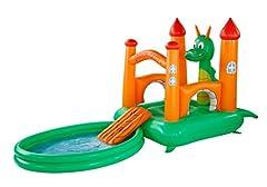 Idea Regalo - friedola - Castello gonfiabile da saltare + piscina gonfiabile con dragone giocattolo, 237 x 155 x 180 cm + 188 x 144 cm