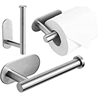 Toilet Roll Holder Self Adhesive - 3M Toilet Paper Holder 304 Stainless Steel Wall Mount Brushed, Strong Adhesiveness…