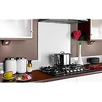PANEL DE VIDRIO para cocina en diferentes medidas y colores / Cristal de Protección salpicaduras para frentes de cocinas (60x55 cm, Blanco)