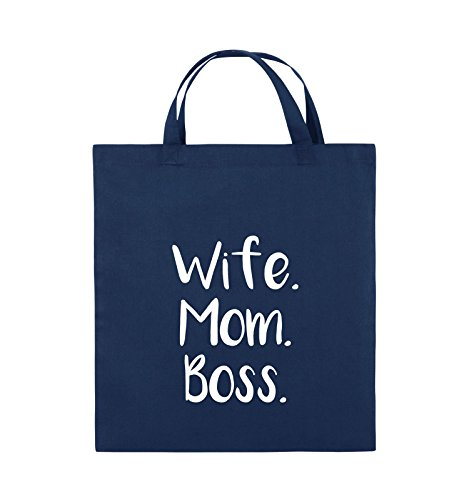 Schwarz Weiss Comedy 38x42cm Henkel Boss Mom Wife Navy Bags kurze Pink Farbe Jutebeutel BzqgUB7