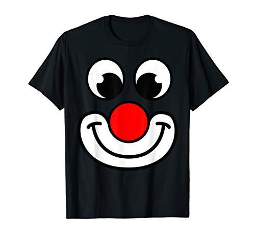 Lustiges Clown Shirt mit Clown Nase I Clown Kostüm I Zubehör -