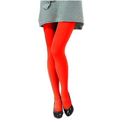 Nanxson(TM) Damen Mädchen Elastische einfarbig dick Strumpfhosen Leggings in verschiedene Farbe WZWK0006 Rot