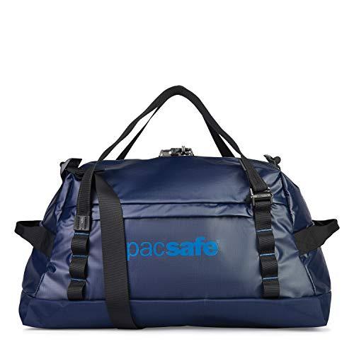 Pacsafe Dry Lite Duffel Sporttasche, Schultertasche mit Anti-Diebstahl Technologie, 40 Liter, Blau/Lakeside Blue
