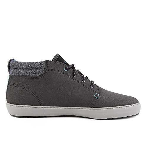 Lacoste Uomo Ampthill Terra 417 1 CAM Leather Trainers, Nero Black
