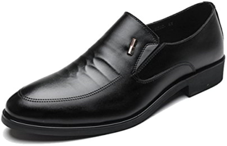 LYZGF Herren Gentleman Business Fashion Lederschuhe Formelle Kleidung Freizeit Round Toe