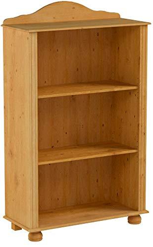 Bücherregal Landhaus Regal Kiefer Massivholz klein Standregal 3 Fächer Wohnzimmer Büro 77 x 30 x 116 cm