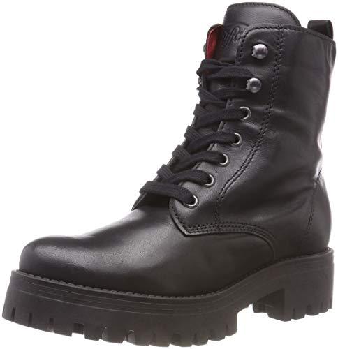 Buffalo Damen Shadow IBEROCRUST Leather Combat Boots, Schwarz (Black 01 00), 37 EU