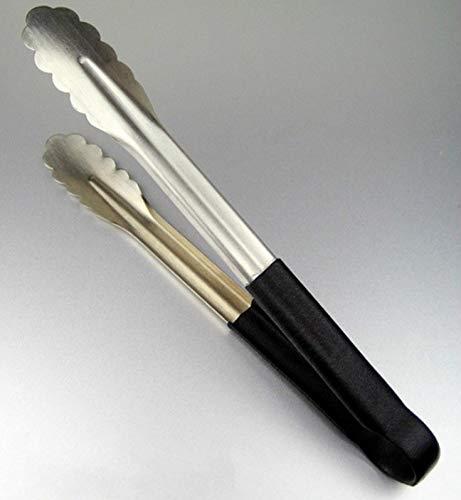 Pince de cuisine en acier inoxydable, Non-silp cuisson Clip avec poignée en silicone antidérapant et Good-grips Nourriture Pince pour barbecue, pique-nique, DE Service, Buffet, etc.