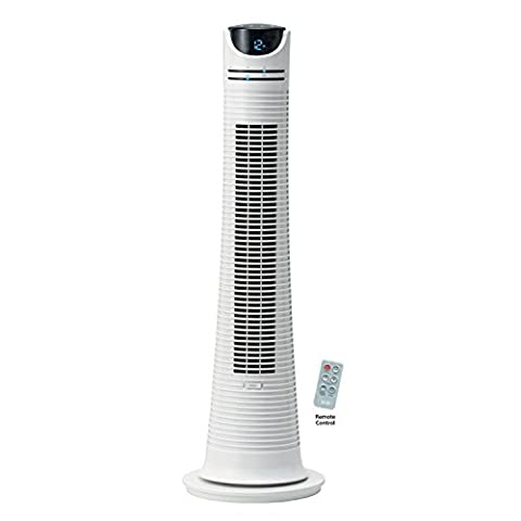 NSA 22W Environmental Friendly 32 Speed Options Ultra Quiet Motor Electronic Soft Touch Controls Tower Fan with Power Indicator and Remote