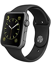 Apple MJ3T2FD/A Aluminium Sportarmband für Apple Watch (42 mm) Space grau/schwarz