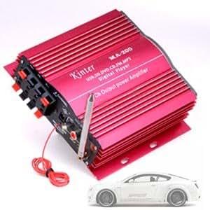 amplificateur ampli 4 ch 400w pour moto voiture informatique. Black Bedroom Furniture Sets. Home Design Ideas