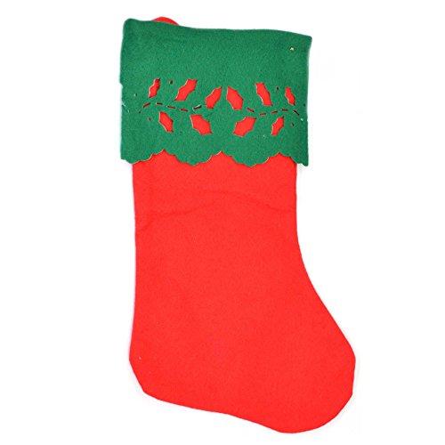 Gifts 4 All Occasions Limited SHATCHI-1383 - Calcetín navideño, diseño de Papá Noel, color rojo y verde
