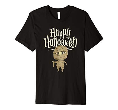 (Happy Halloween Süßes Mummy T-Shirt | Herbst Tee)