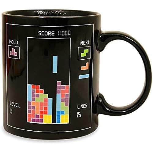 dia del orgullo friki Paladone 10414 - Taza sensitiva al calor, diseño Tetris