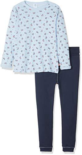 Sanetta Baby-Jungen Zweiteiliger Schlafanzug Pyjama Long, Blau (Light Blue 50137.0), 86