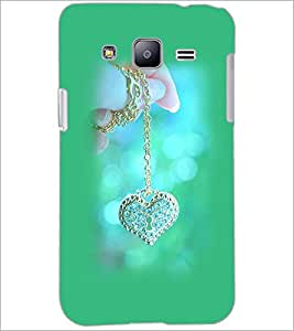 PrintDhaba Heart Pendent D-1978 Back Case Cover for SAMSUNG GALAXY J2 (Multi-Coloured)