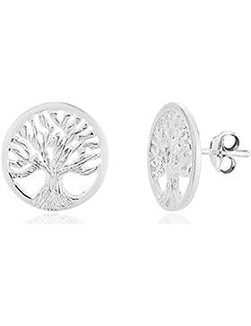 DTPsilver - Damen - Ohrringe 925 Sterling Silber - Baum des Lebens - Ohrstecker