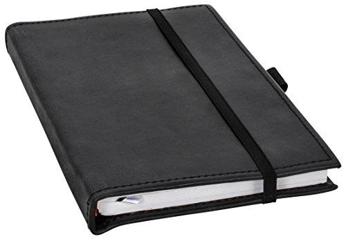 Notizbuch Gusti Leder ''Riana'' DIN A5 Edles Chices Leder-Accessoire Blanko | Recyclebar | Schwarzes Büffelleder | Glattes Elegantes Leder - 2P40-24-13