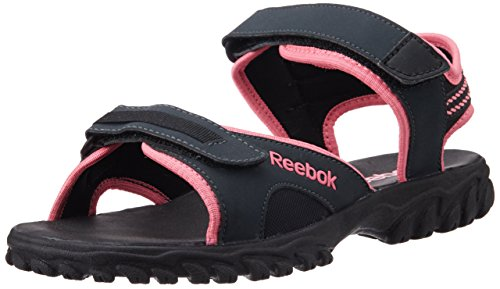Reebok Unisex Adventure Chrome Grey,Pink And Black Sandals And Floaters - 6.5 UK  available at amazon for Rs.899