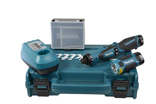 Preisvergleich Produktbild Makita Akku-Knickschrauber 7,2 V im Transportkoffer inklusive 2 Akkus, Ladegerät und Akku-Lampe, DF010DSLE