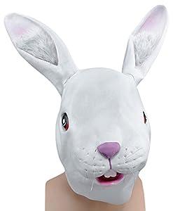 Bristol Novelty BM250 Máscara cubrecabeza de Conejo, Blanco, Talla única