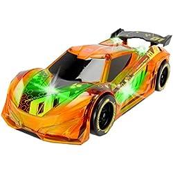 Dickie Toys 203763002 - Lightstreak Racer, Rennauto mit Friktionsantrieb, mit Licht- und Soundfunktion, 20cm