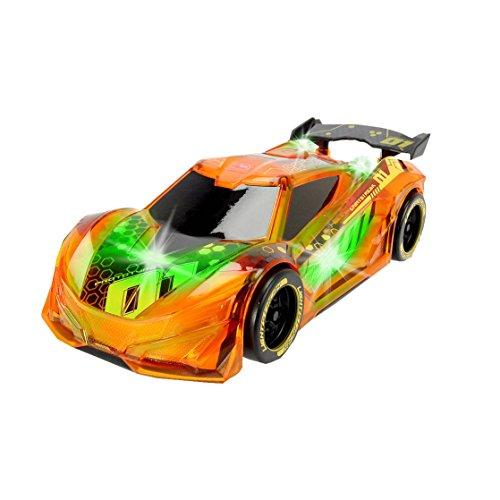 Dickie Toys 203763002 - Lightstreak Racer, Rennauto mit Friktionsantrieb, mit Licht- und...