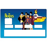 DECO-IDEES Credit card sticker, THE BEATLES Yellow submarine - Personalize Your Credit Card Visa or MasterCard with These Removable Stickers