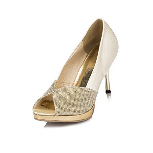 Fashion Kevin Modische Fashion Kevin Damen Hochzeitsschuhe Gold 4IrrEaqxw