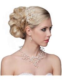 SEXYHER Atemberaubende Haar-Kamm mit Perlen und Kristallen - SH-DL-H0424