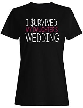 Sobreviví a mis hijas que Wedding las negociaciones del dinero camiseta de las mujeres ee64f