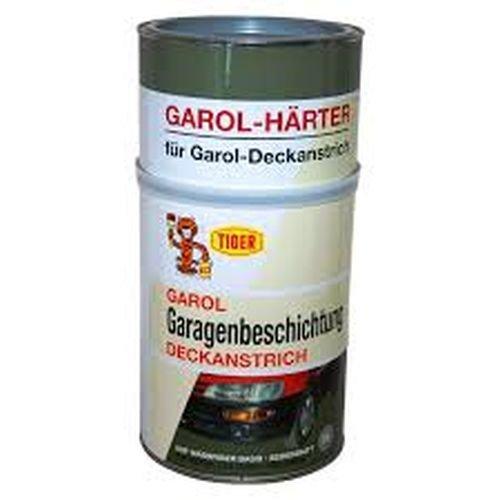 Tiger 2-Komponenten- Garol-Härter Garagenbeschichtung Deckanstrich auf wässriger Basis seidenmatt 71 Hellgrau für Innen 3 KG