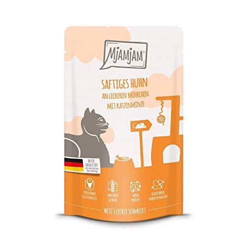 MjAMjAM - Premium Nassfutter für Katzen - Quetschie - saftiges Huhn an leckeren Möhrchen, 12er...