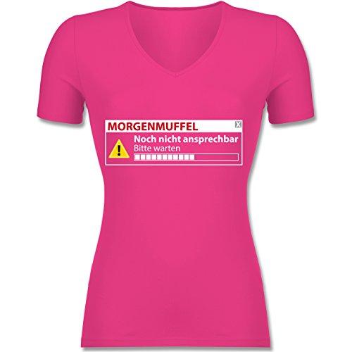 Sprüche - Morgenmuffel - Nicht ansprechbar - Damen T-Shirt mit V-Ausschnitt 4