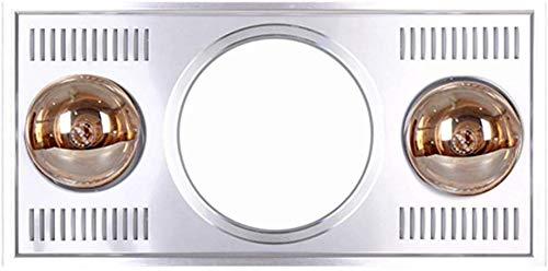 JGWJJ Embedded Badezimmer Heizung, mit Doppel-IC-Infrarot-Gold-Heizung-Birne, ohne Ventilator, Sicherheits-Schutz-1000W