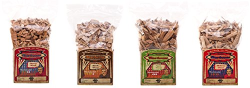 Axtschlag Allstars Räucherchips Classic, Wood Smoking Chips, 4 Sorten