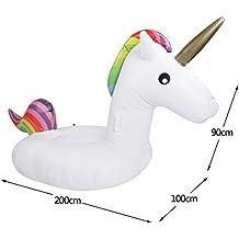 Unicornio enormes, juguetes de flotador, natación, piscina Float monta, natación de la piscina, piscinas Cama flotante inflable, juguete inflable Con las ...