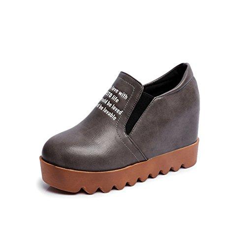 chaussures de Dame Lok Fu printemps et l'automne/Épais fin des étudiants coréens à souliers pour dames la plus élevée des/ chaussures occasionnelles A